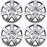 chrysler sebring chrome hubcaps - Hubcaps for TOYOTA (Pack of 4) Wheel Covers - 16 inch, Snap On, Silver