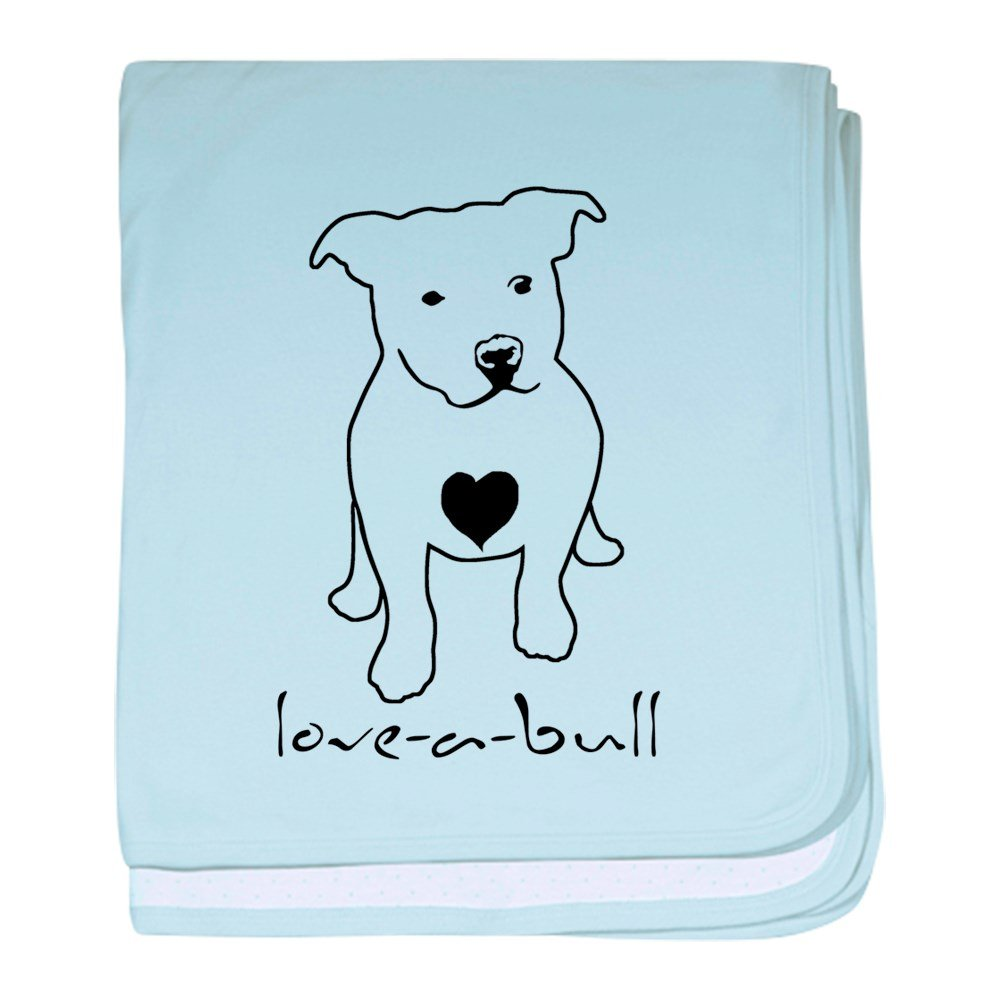 CafePress – love-a-bull Pit Bull baby blanket – スーパーソフトベビー毛布、新生児おくるみ 標準 ブルー 048670908825CD2  スカイブルー B00QH7EN9O