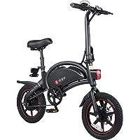 DYU Folding Electric Bike - 14'' Electric Bike for Adults, D3+ Teens Commuter City Ebike, 250W Motor Top Speed 15.5Mph…