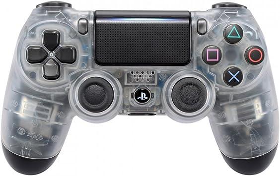 eXtremeRate Funda Delantera Carcasa Protectora de la Placa Frontal Cubierta Antideslizante para el Mando del Playstation 4 PS4 Slim Pro con JDM-040 JDM-050 JDM-055 Transparente: Amazon.es: Electrónica