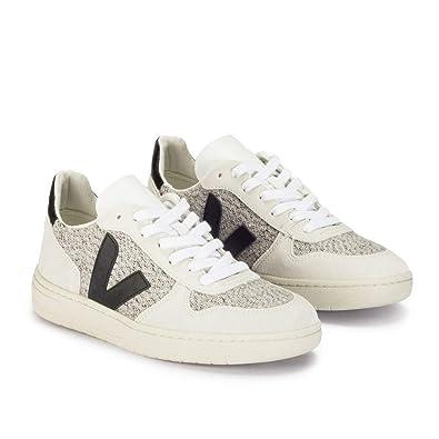 Veja V-10 Flannel Snow Black - Deportivas - Blanco, 37: Amazon.es: Zapatos y complementos