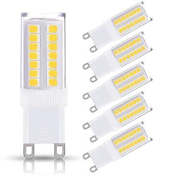 JandCase G9 LED Light Bulbs, 5W (40W Halogen Equivalent), 400LM ...