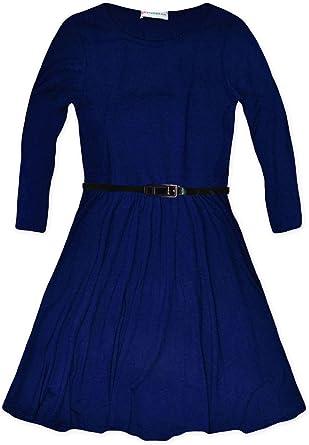 Jolly Rascals Robe Patineuse A Manches Longues Pour Fille Bleu 13 Ans Amazon Fr Vetements Et Accessoires