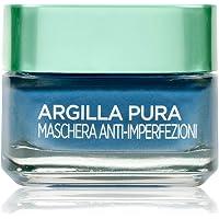 L'Oréal Paris Maschera per il Viso Argilla Pura Anti-imperfezioni con Alghe Marine, Agisce sui Punti Neri e Ristringe Pori, 50 ml, Confezione Singola