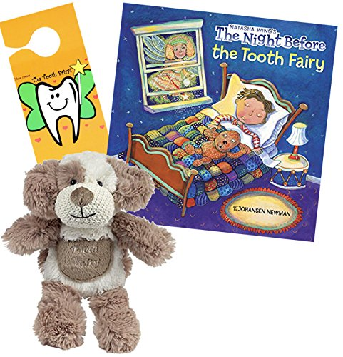 (Dog Tooth Fairy Pillow w/ Tooth Fairy Book Night Before The Tooth Fairy & Door Hanger Gift)