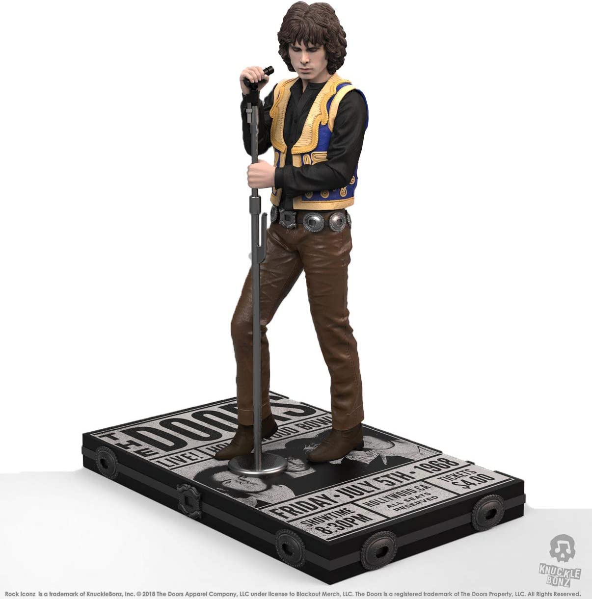 Knucklebonz Jim Morrison (The Doors) Limited Edition Collectible Statue - Rock Iconz, Officially Licensed, Includes CoA