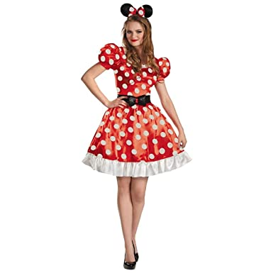 Amazon.com: Minnie Mouse Classic Red Women\'s Adult Disney Dress ...