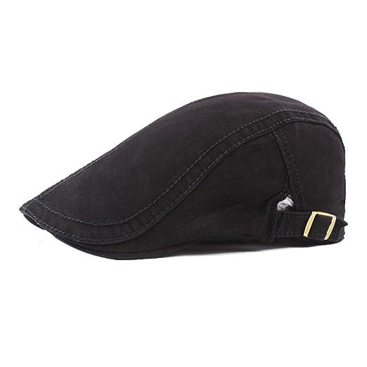 305fd92c432 Men s Cotton Flat Cap Spring Ivy Gatsby Newsboy Cabbie Hat Golf Caps ...