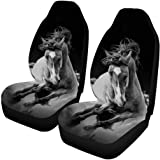 INTERESTPRINT Beautiful Galaxy Front Seat Covers 2 pc,Vehicle Seat Protector Car Mat Covers, Fit Most Vehicle, Cars…