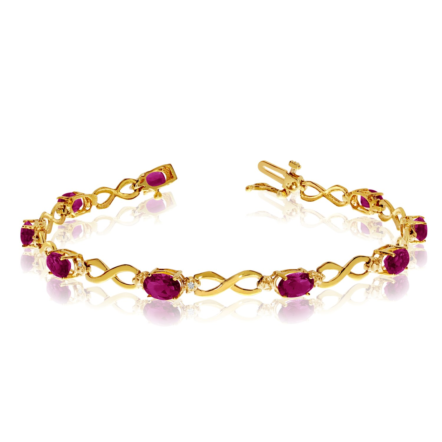 ruby topaz bracelets gold bracelet and diamond oval jewelry white pink