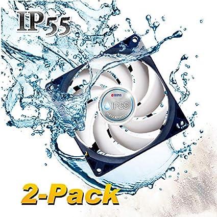 Titan - Ventilador de refrigeración de 12 V CC IP55 a Prueba de Agua y Polvo (120 mm (Paquete de 2)