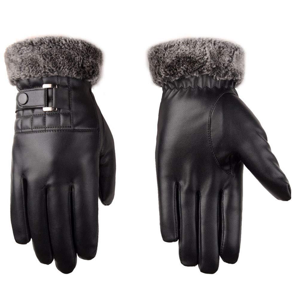 morbidi foderati in pile caldi guanti da guida protezione dal freddo per touchscreen invernali Marico Nahum Guanti da uomo in pelle