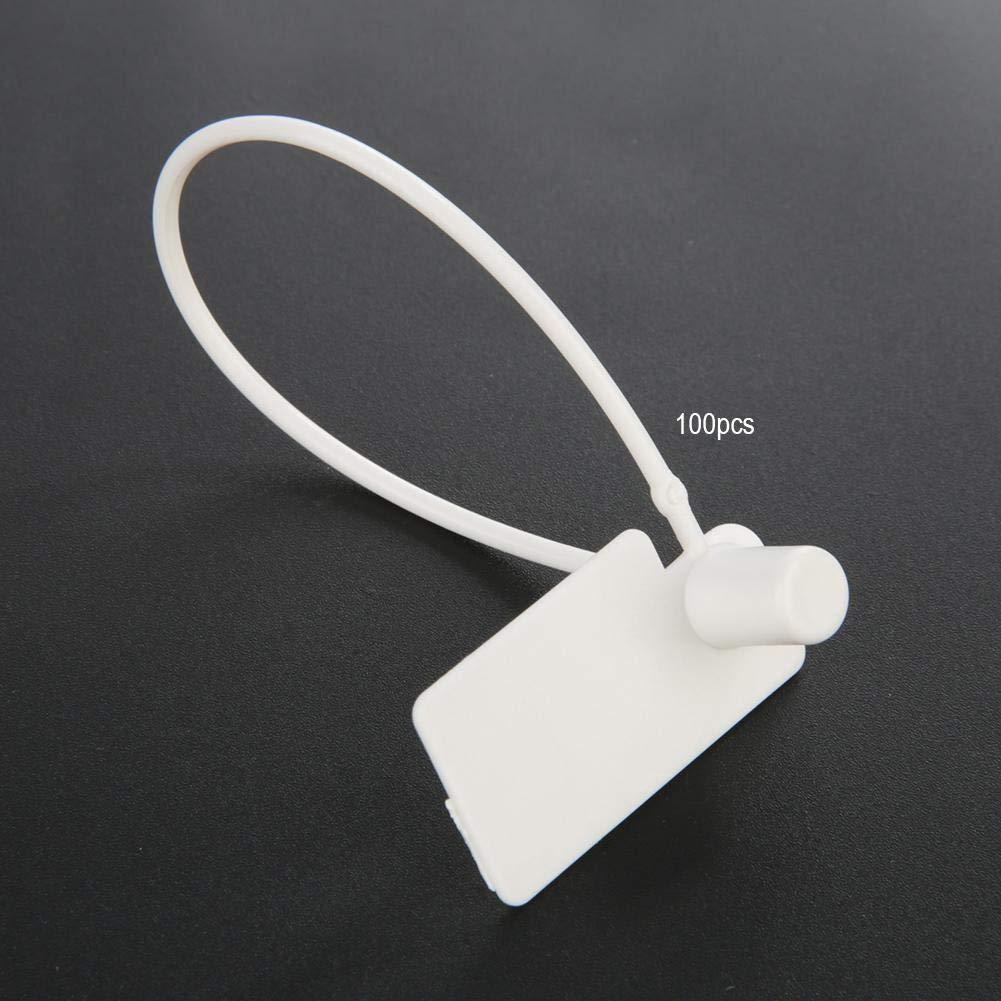 NITRIP PP 100Pcs White Disposable Zip Ties Self-Locking Tie Suitcase Shoes Bag Label Tag
