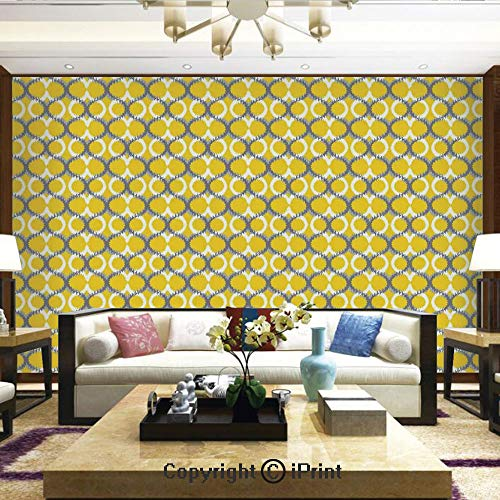 Lionpapa_mural Wall Mural Showing All They Beauty Extremely Detailed Image, Ancient Ethnic Traditional Ikat Patterns Indonesian Cloud Style Decorative Motifs,Home Decor - 66x96 inches - Indonesian Carving