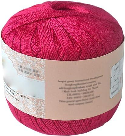 Hilo de algodón mercerizado para bordar, ganchillo, para tejer, joyería de encaje. - geshiglobal. 17#: Amazon.es: Hogar