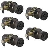 Probrico Privacy Door Levers Door Knobs for Bedroom or Bathroom Handle Lockset, Oil Rubbed Bronze 5 Pack