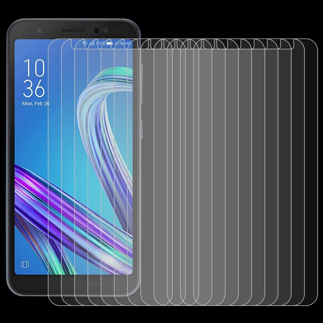 Yangmeijuan Mobile Accessory 100 PCS for Sony Xperia X Compact 0.26mm 9H Surface Hardness 2.5D Explosion-Proof Tempered Glass Screen Film Cell Phone Replacement Parts