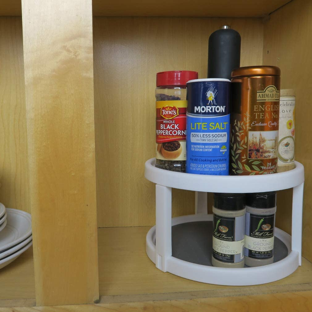 """Tier-Non Skid-Spinning Turntable-Pantry//Cabinet//Counter Lazy Susan Organizer 18/"""""""