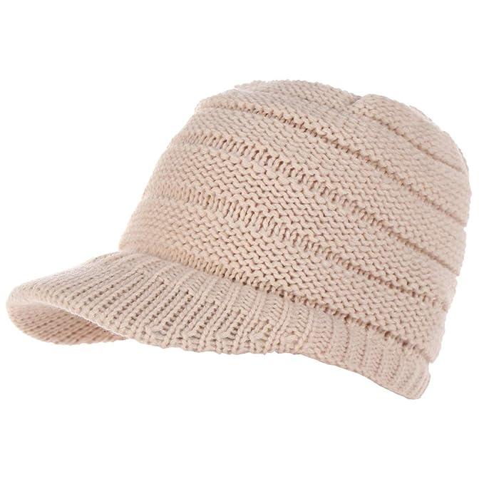 Pandiki Gorro de lana las mujeres chica gorra de béisbol ocasional ...