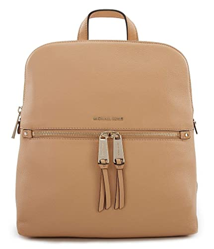 258396f57998 Amazon.com: MICHAEL Michael Kors Rhea Zip Medium Slim Leather Backpack,  Butternut: Shoes
