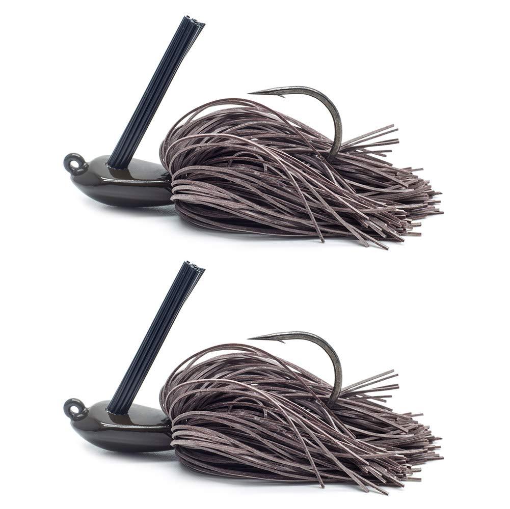 Tungsten, Rubber Jigs YZD Dirty Hairy Jigkopf 10gr 14gr 21gr mit Silikonfransen f/ängige Fransen Weedguard