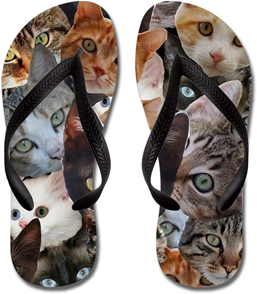 Flip Flops Kitty Collage Beach Sandals CafePress Funny Thong Sandals