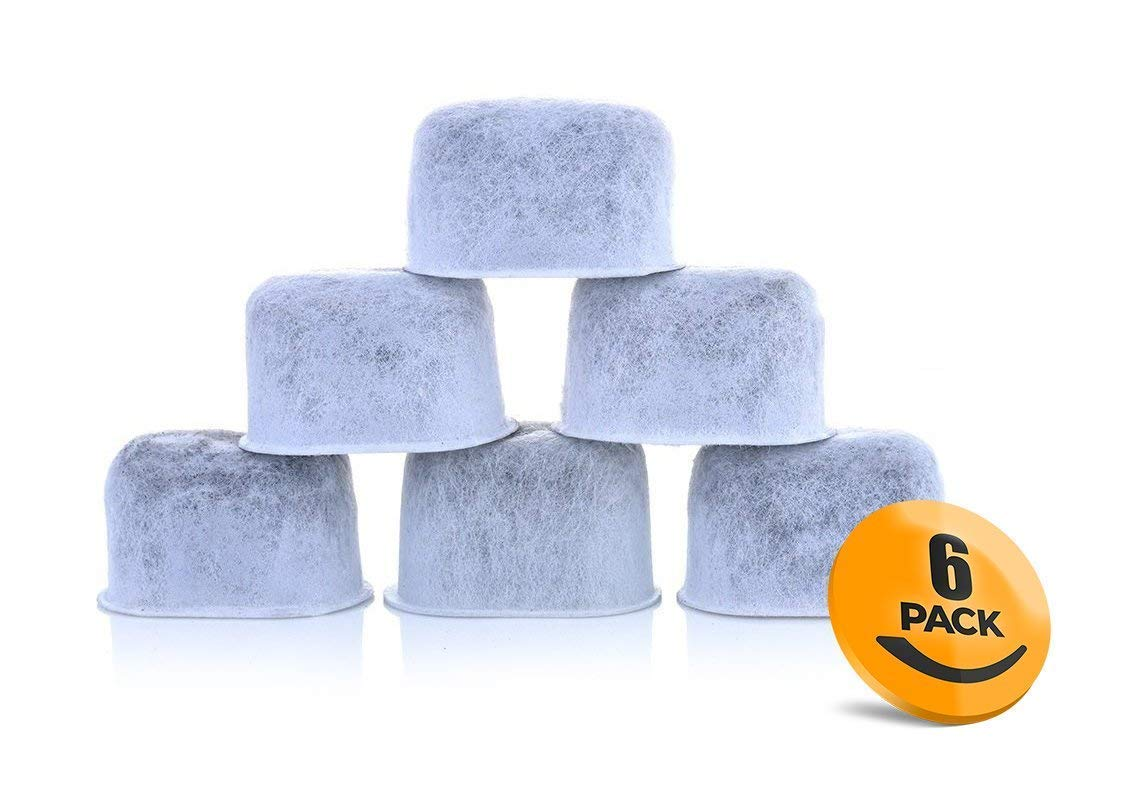 6-Pack of Breville BWF100 Compatible Water Filters (Activated Charcoal)