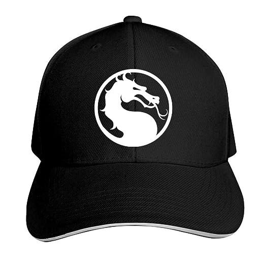 02ca25bedacd6 ADBOSS Mortal Kombat Dragon Logo Adjustable Baseball Caps Vintage Sandwich  Hat Sandwich Cap Peaked Trucker Dad