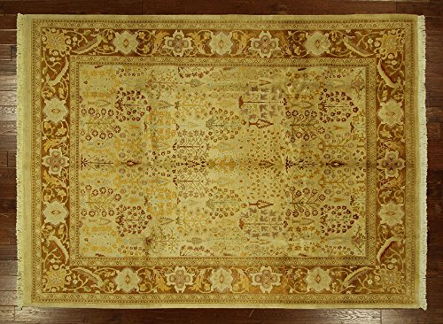 (Bh Sun H6263 Oriental Chobi Collection Ziegler Mahal Ivory 8 x 11 ft. Hand Knotted Wool Rug)