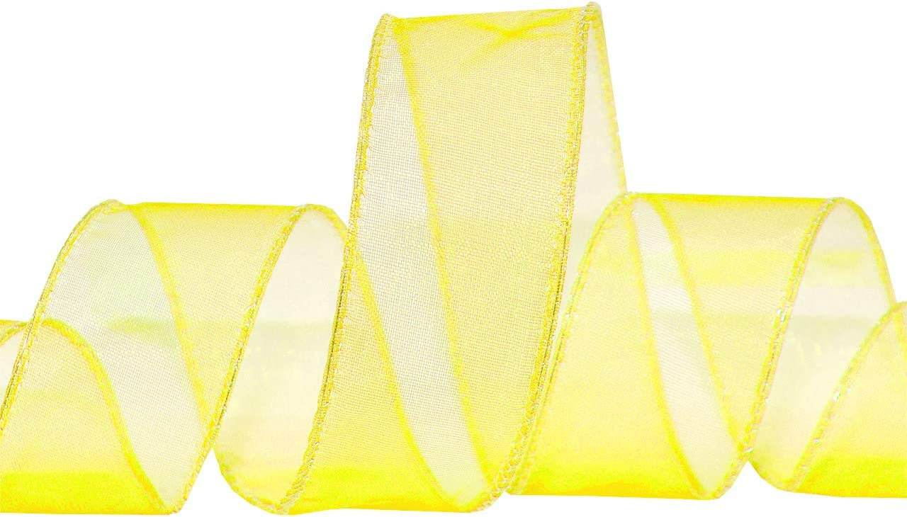 Morex Ribbon Wired 1-Inch Chiffon Ribbon with 25-Yard Spool Apple