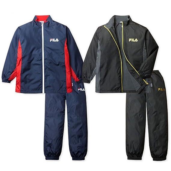 050d5c8c67f41 (ブラック 160cm)子供服 男の子 ジャージ 上下組 スーツ 長袖 FILA フィラ セットアップ