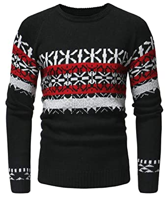 chenshijiu Men Pollover Crewneck Sweater Long Sleeve Christmas Snowflake  Sweaters  Amazon.in  Clothing   Accessories 6b3392a4b