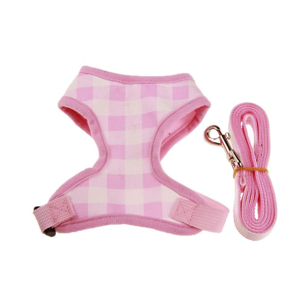 Clearance, OOEOO Dog Traction Harness Leash Lead Rope Outdoor Safety Vest Best Pet Supplies Walk Out (Pink, S) by OOEOO Pet Clothes (Image #1)