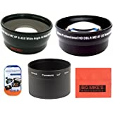 67mm 2X Telephoto Lens Deluxe Lens Kit for Canon PowerShot SX500 is 16.0 MP Digital Camera Includes 67mm 3PC Filter Kit More!! 67mm 0.45x Wide Angle Lens with Macro Filter Adapter