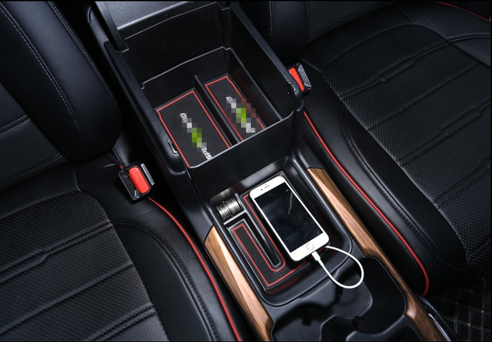 Salusy Car Center Console Armrest Organizer Tray Storage Box Compatible with Honda CRV 2017 2018 2019