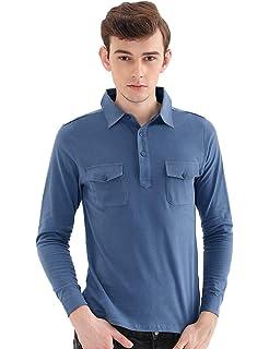 2db16abc6b5 Amazon.com  Sinohomie Tee Uniforms Men s Modern Fit Long Sleeve Polo ...