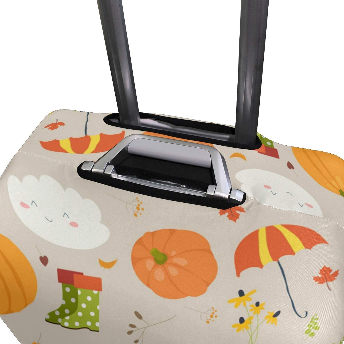 FOLPPLY Halloween Autumn Pumpkin Luggage Cover Baggage Suitcase Travel Protector Fit for 18-32 Inch