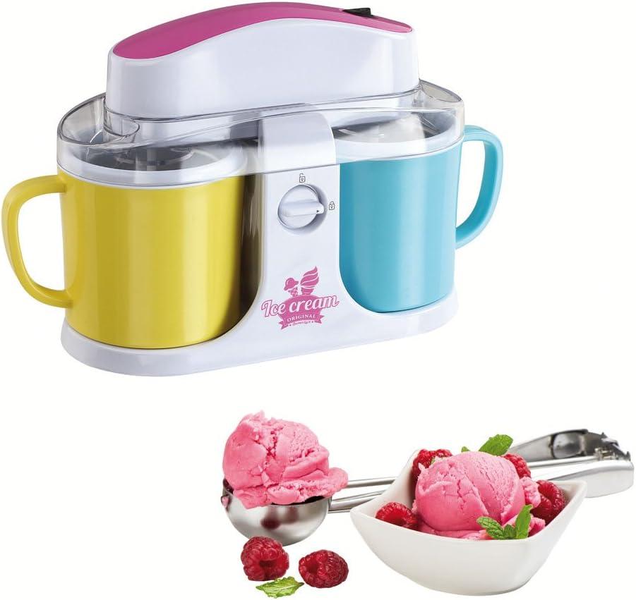 Domoclip dop146para helados Duo amarillo + azul + rosa 0,5litro, 12