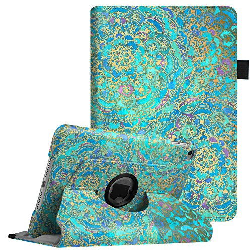Fintie iPad Mini 4 Case - 360 Degree Rotating Stand Case with Smart Cover Auto Sleep/Wake Feature for Apple iPad Mini 4 (2015 Release), Shades of Blue