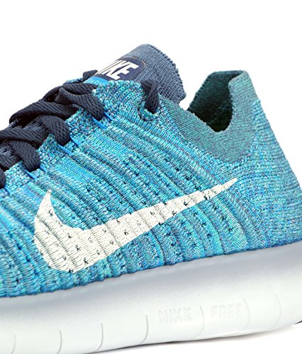 Free WMNS blue de NIKE RN Femme Fog Running Glow Chaussures White Entrainement Flyknit Ocean Zfppqwg75n
