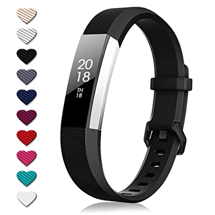 TreasureMax for Fitbit Alta Bands and Fitbit Alta HR Bands, Adjustable Soft  Silicone Sports Replacement Accessories Bands for Fitbit Alta HR/Fitbit