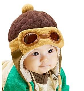 0ef7e3e9f7aec TININNA Invierno Cálido Bebé Kids Cool Piloto Aviador Gorro De Forro ...
