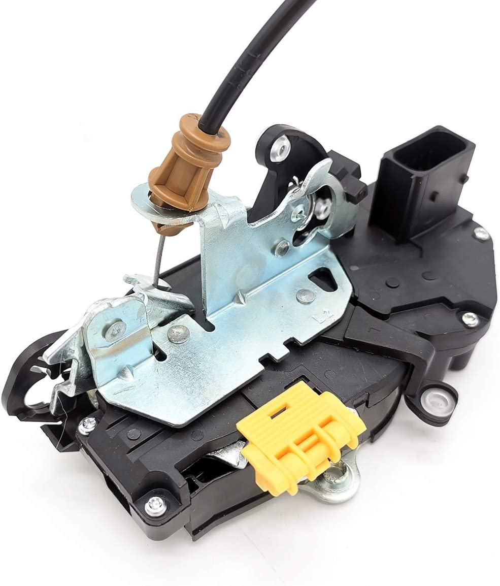 Cheriezing 22862028 Door Lock Latch Actuator with Cable Front Left Driver for 2010-2014 Chevy Silverado 1500 2500HD 3500HD GMC Sierra 1500 2500HD 3500HD