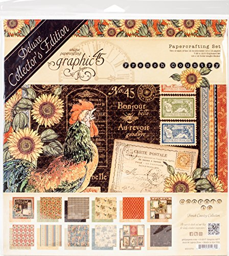Graphic 45 Deluxe Collector's Edition French Country Dce Package (Stamp Graphic)