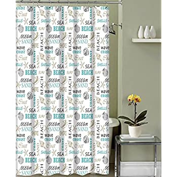 Amazon.com: Gone Surfing Beach Theme Shower Curtain: Home & Kitchen
