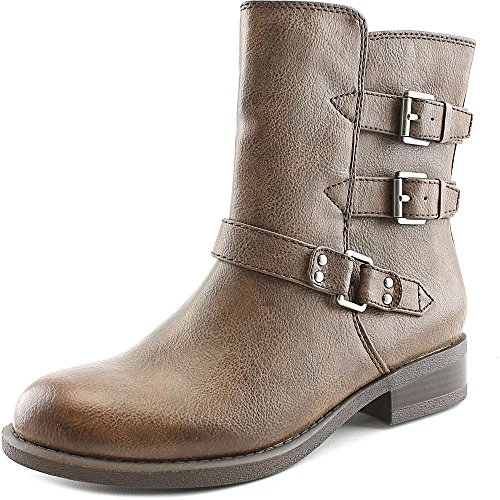 American Living Womens Jaqueline Leather Round Toe Ankle Motorcycle Boots Brown fBD9Rxq