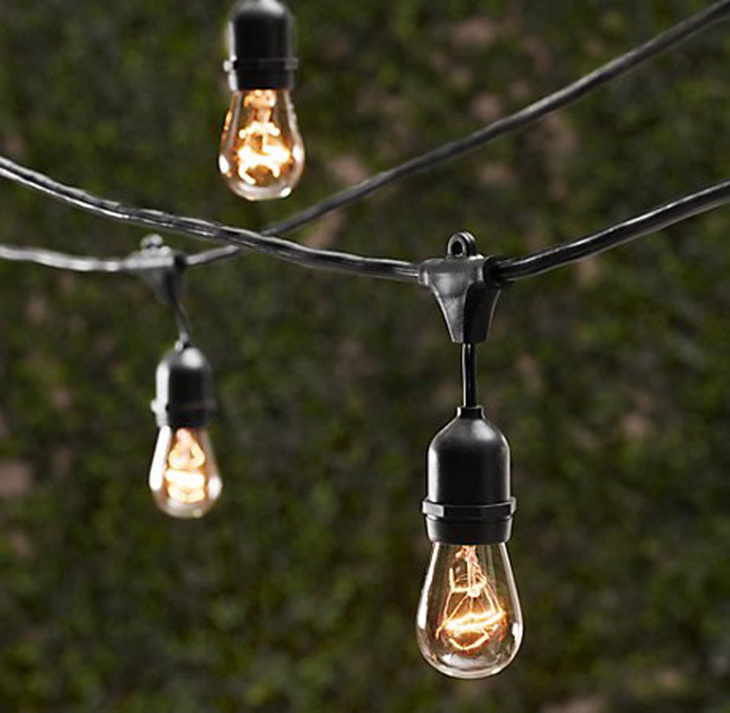 Amazon string light company bulb5015c clear a19 string light amazon string light company bulb5015c clear a19 string light bulb with e26 base 11 watt pack of 15 garden outdoor aloadofball Gallery