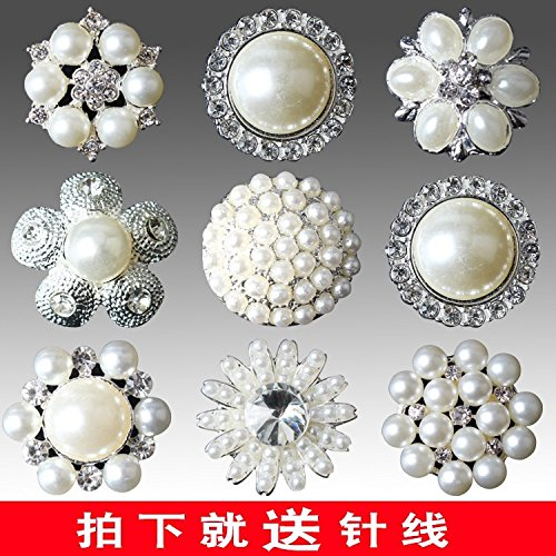 Mink Button Fur Pearl (Luxury metal coat female mink buttons clothes buttons decorated high-grade fur coats delicate pearl buttons for DIY Art Sewing Sew Tailor Clothing Craft)