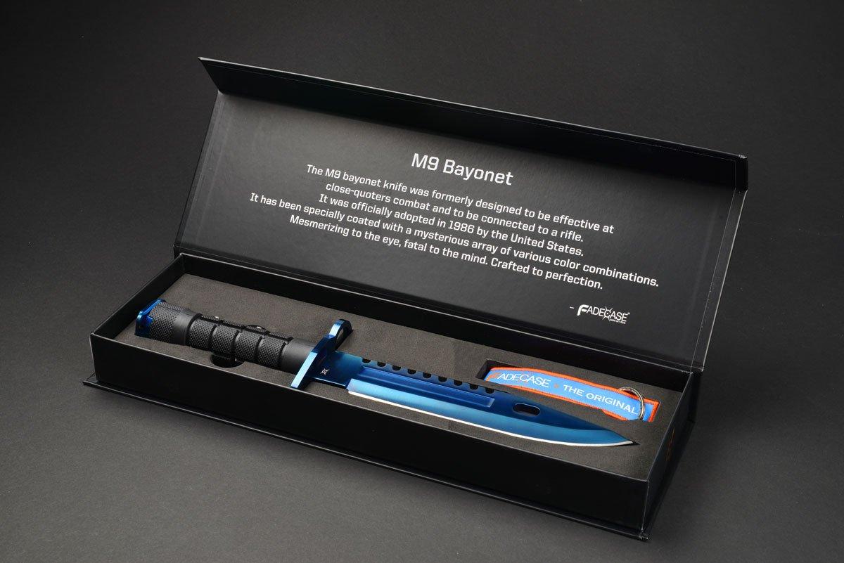 Amazon.com: FadeCase M9 Bayonet Elite Cuchillo táctico de ...