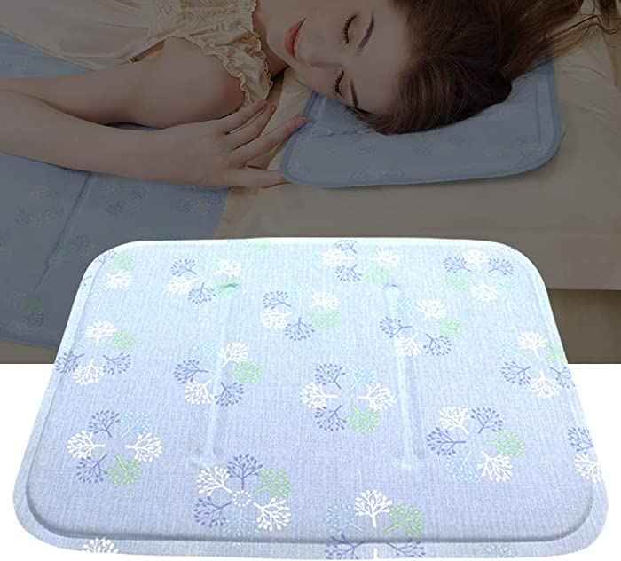 Cool Gel Pillow, Cooling Pad Gel Pillow Cool Gel Pads Summer Cool Gel Pad Mat Sleep Bed Gel Pad Therapy Aid Hot Flush Warm Nights Cool (Tree Pattern)